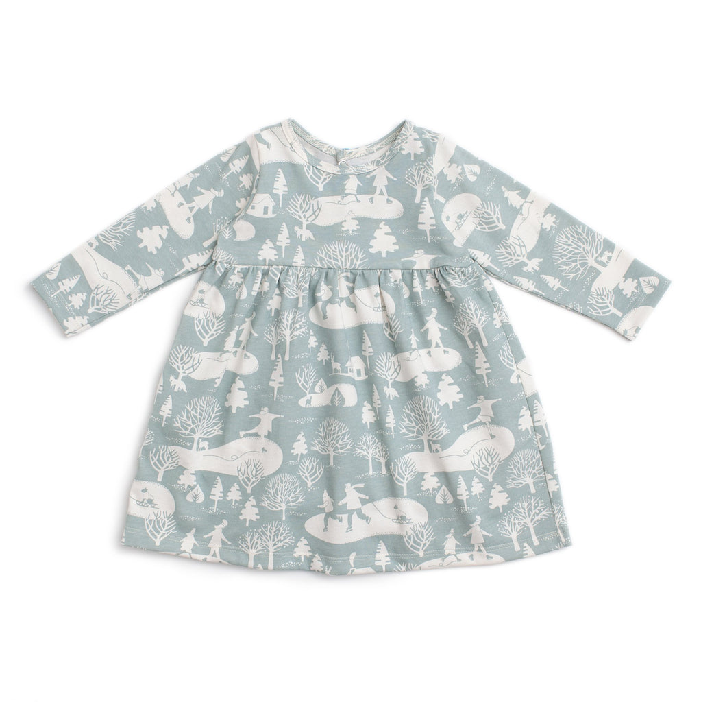 Geneva Baby Dress - On The Ice Pale Blue