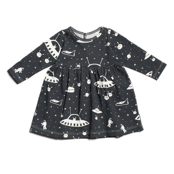 Geneva Baby Dress - Outer Space Charcoal