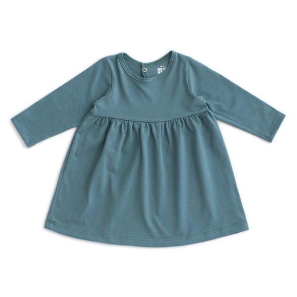 Geneva Baby Dress - Solid Teal