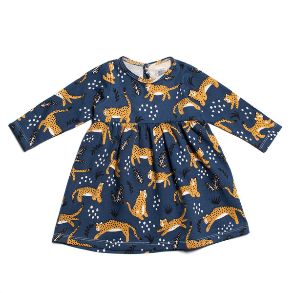 Geneva Baby Dress - Wildcats Navy