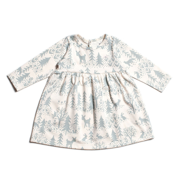 Geneva Baby Dress - Winter Scenic Pale Blue