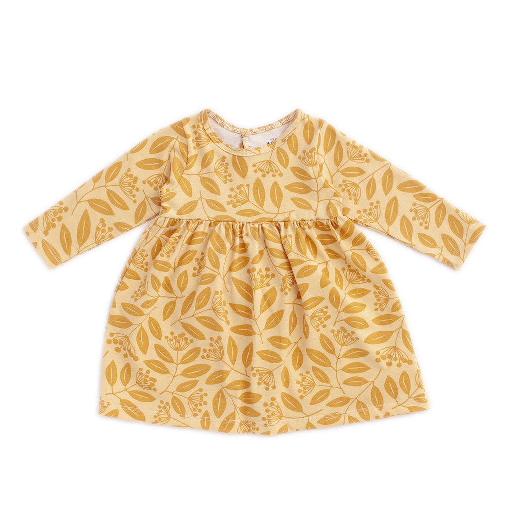 Geneva Baby Dress - Elderberry Ochre