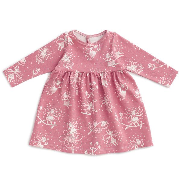 Geneva Baby Dress - Fairies Dusty Pink