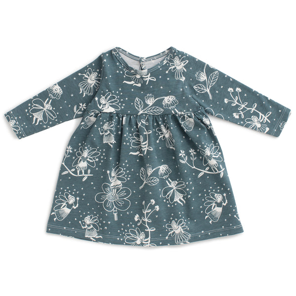 Geneva Baby Dress - Fairies Teal