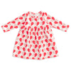 Geneva Baby Dress - Hearts Red & Pink