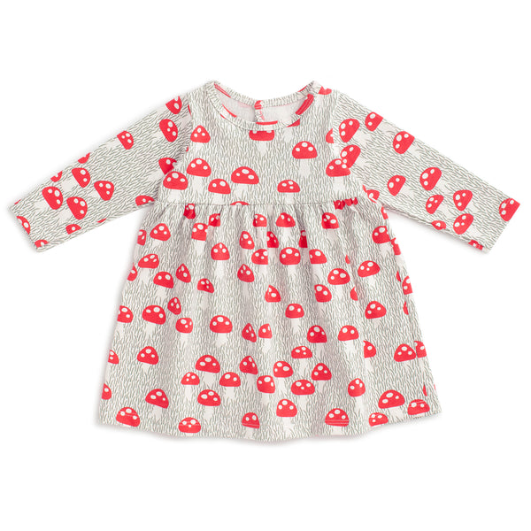 Geneva Baby Dress - Mushrooms Sage