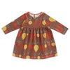 Geneva Baby Dress - Root Vegetables Chestnut