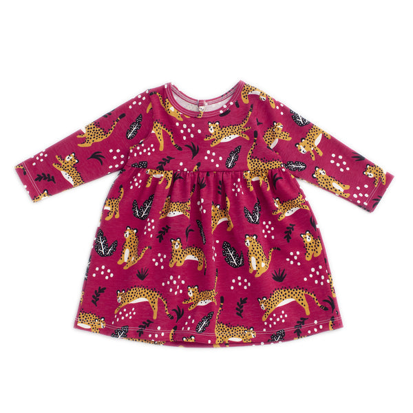 Geneva Baby Dress - Wildcats Plum