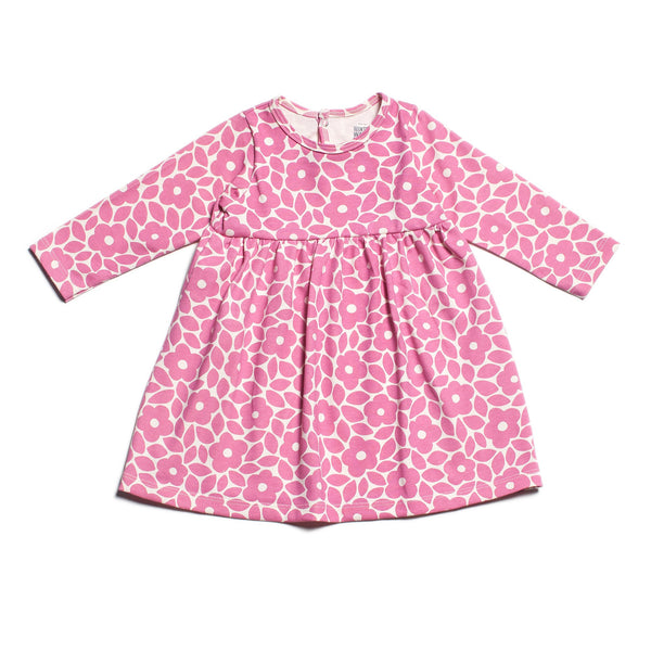 Geneva Baby Dress - Marrakesh Floral Dusty Rose