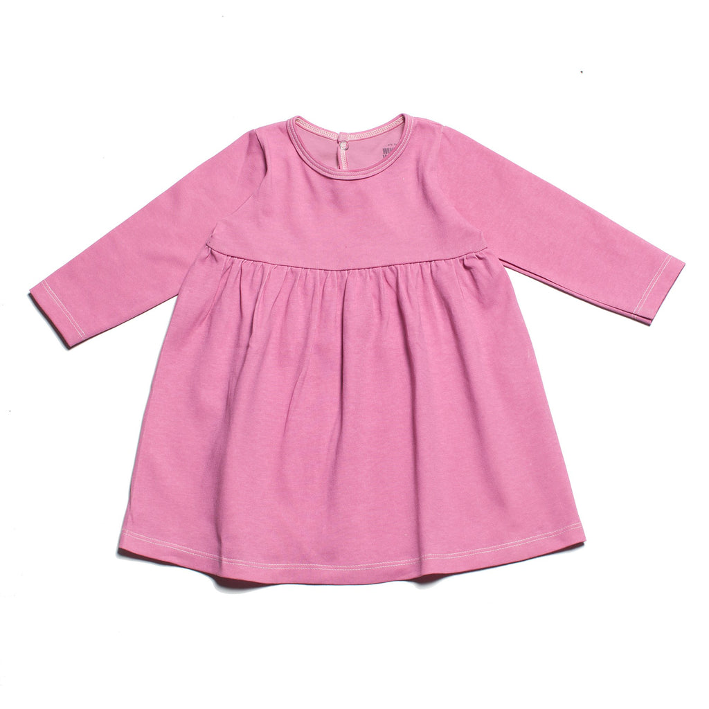 Geneva Baby Dress - Solid Dusty Rose