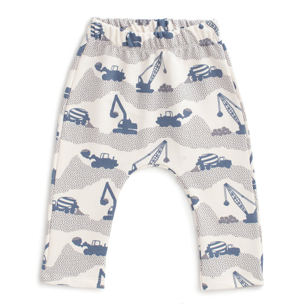Harem Pants - Construction Slate Blue & Grey