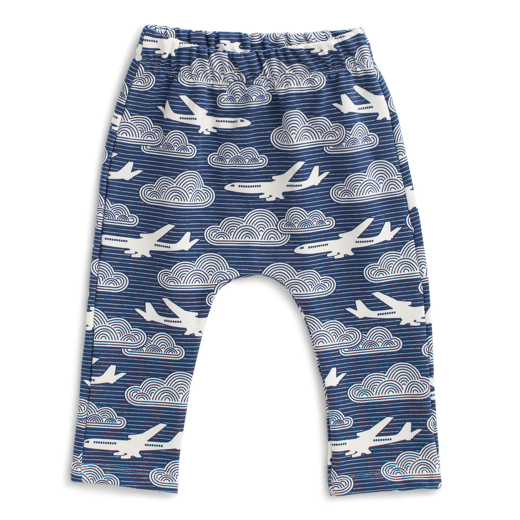 Harem Pants - In the Clouds Navy