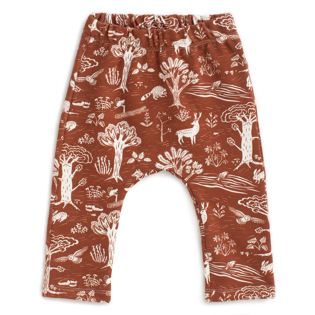 Harem Pants - In the Forest Chestnut