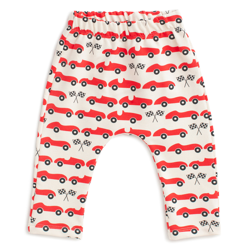 Harem Pants - Race Cars Red