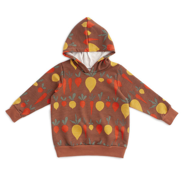 Hoodie - Root Vegetables Chestnut