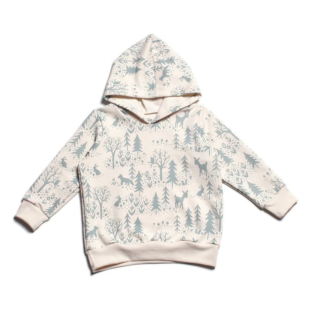 Hoodie - Winter Scenic Pale Blue