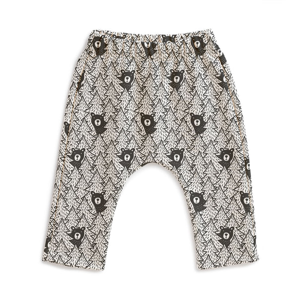 Harem Pants - Bears Black