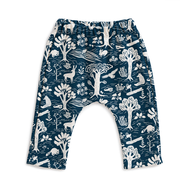 Harem Pants - In the Forest Navy