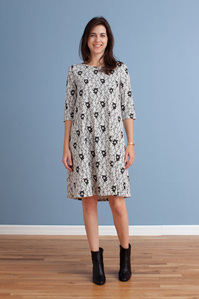 Women's Helsinki Dress - Bears Black