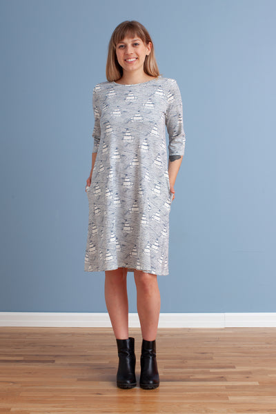 Women's Helsinki Dress - High Seas Navy