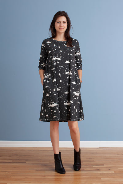 Women's Helsinki Dress - Outerspace Charcoal