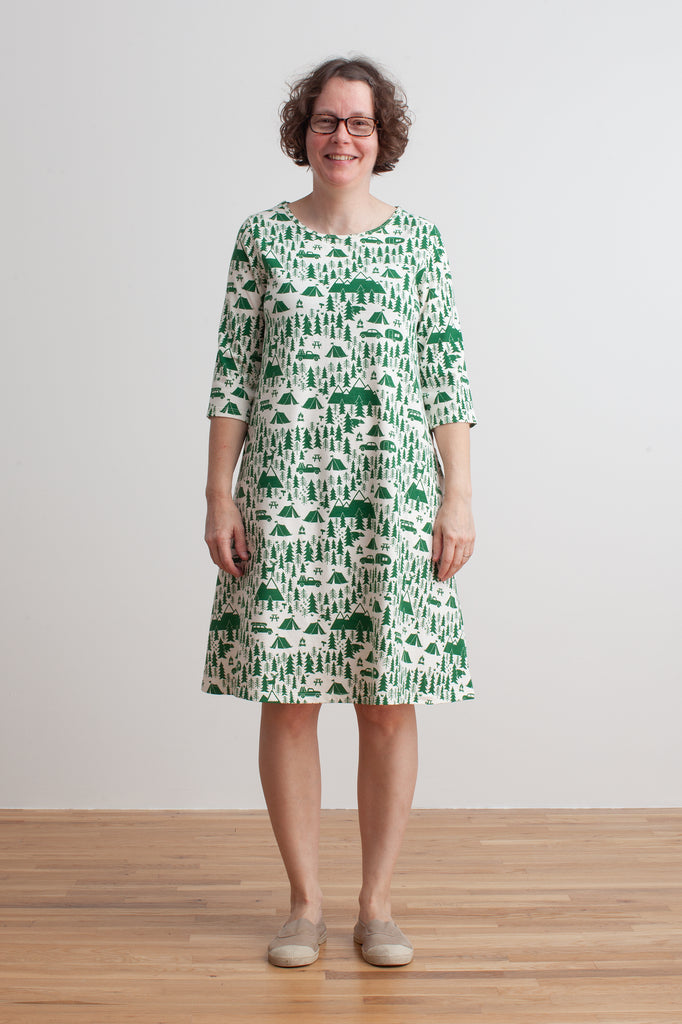 Women's Helsinki Dress - Campground Green
