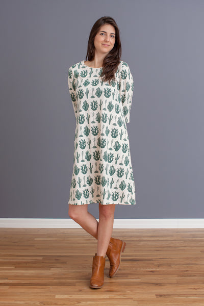 Women's Helsinki Dress - Cactus Green
