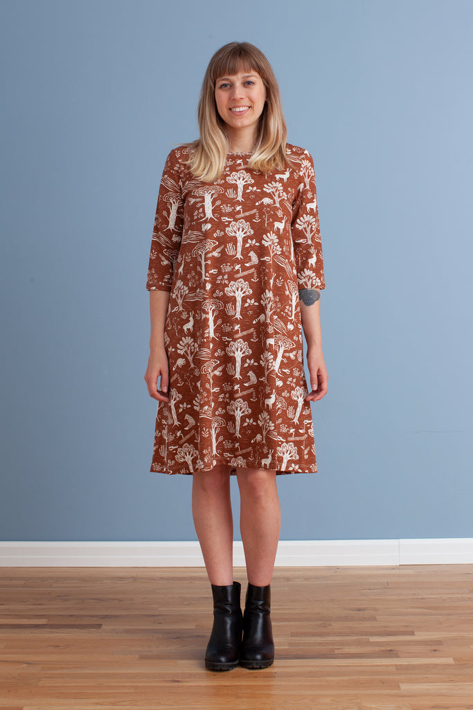 Women's Helsinki Dress - In the Forest Chestnut