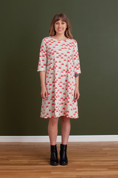 Women's Helsinki Dress - Mushrooms Sage