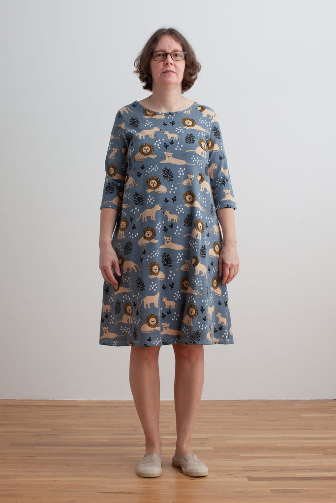 Women's Helsinki Dress - Lions Slate Blue