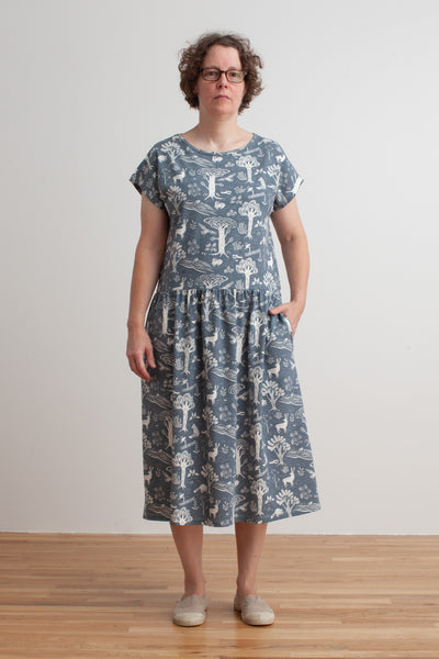Women's Idaho Dress - In The Forest Slate Blue