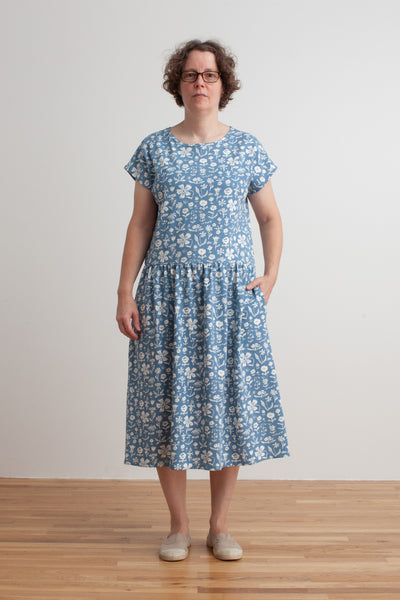 Women's Idaho Dress - In The Garden Blue