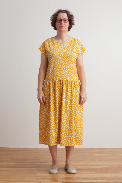 Women's Idaho Dress - Marrakesh Floral Yellow