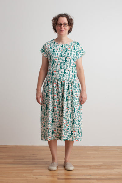 Women's Idaho Dress - Toucans Green