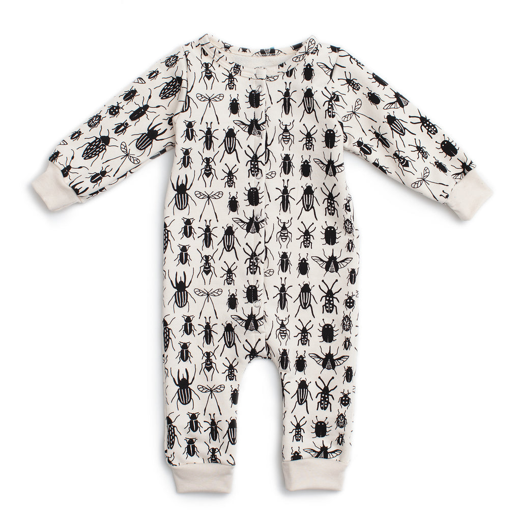 French Terry Jumpsuit - Bug Collection Black