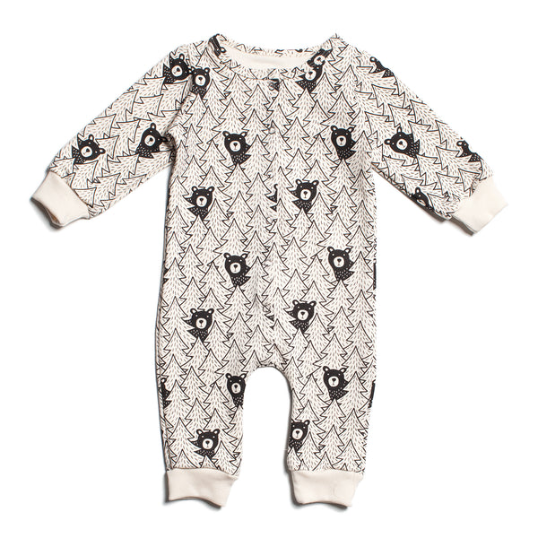 French Terry Jumpsuit - Bears Black