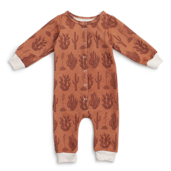 French Terry Jumpsuit - Cactus Caramel