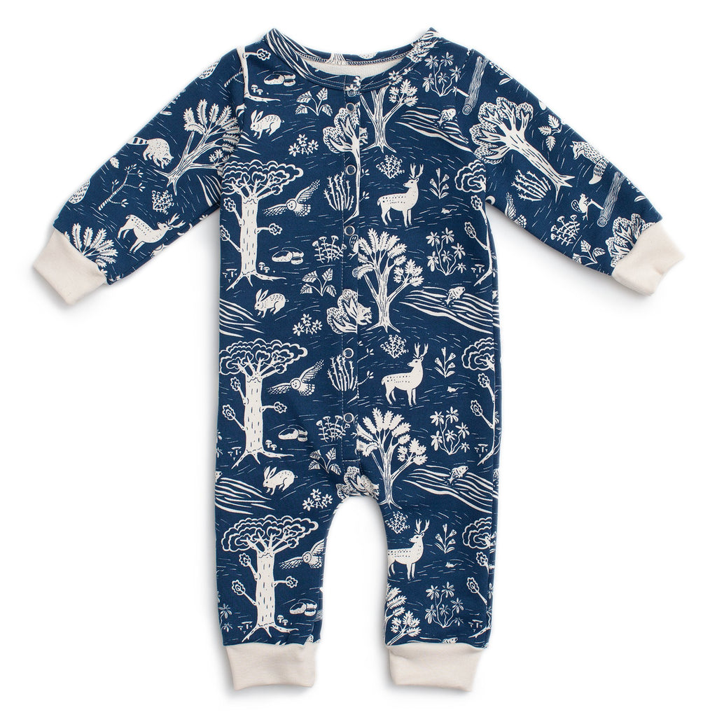 French Terry Jumpsuit - In The Forest Navy