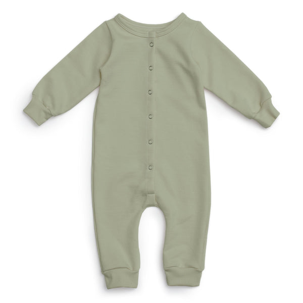 French Terry Jumpsuit - Solid Sage
