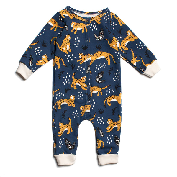 French Terry Jumpsuit - Wildcats Navy