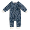 French Terry Jumpsuit - Elderberry Night Sky & Slate Blue