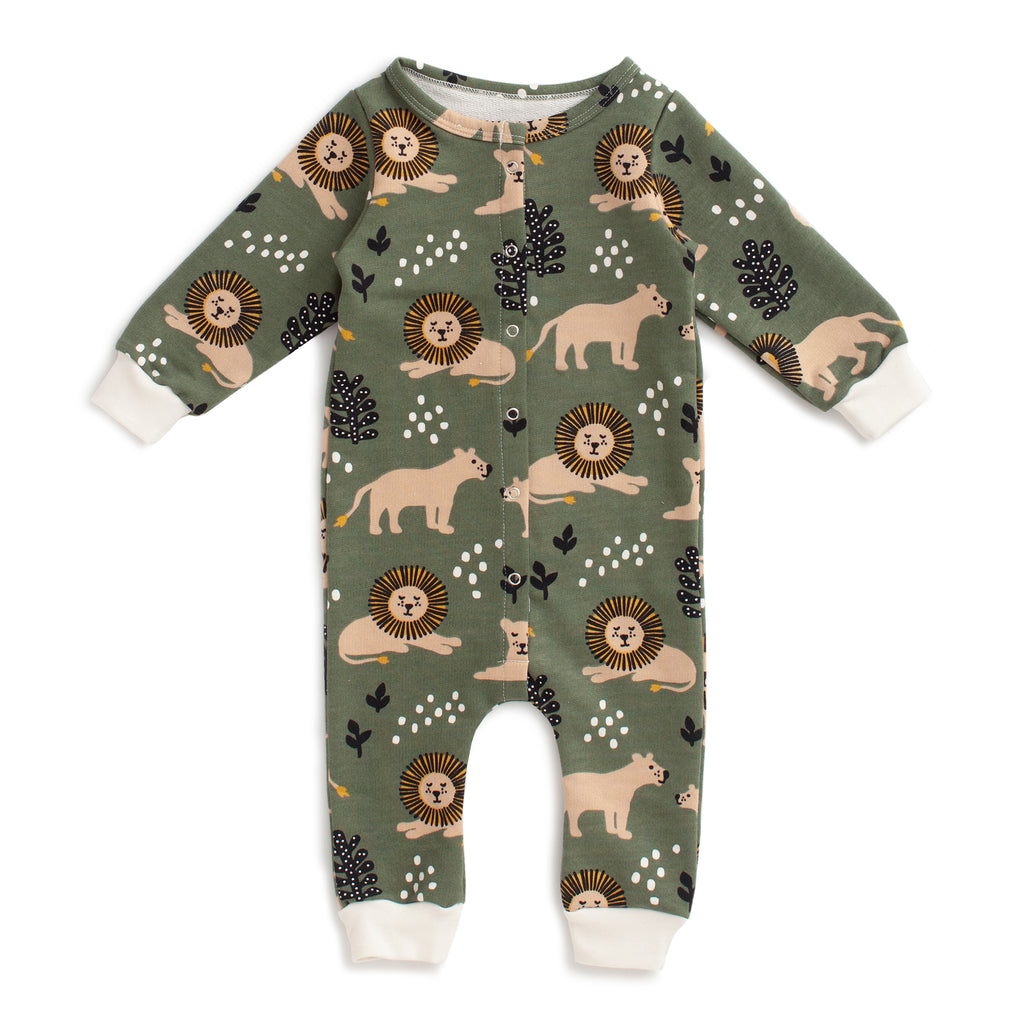 French Terry Jumpsuit - Lions Forest Green