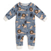 French Terry Jumpsuit - Lions Slate Blue