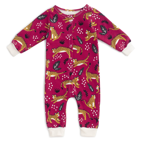 French Terry Jumpsuit - Wildcats Plum