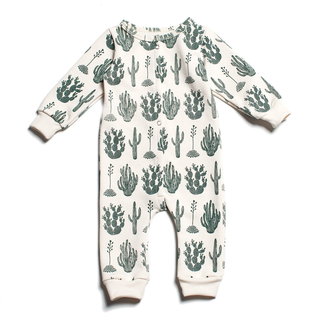 French Terry Jumpsuit - Cactus Green