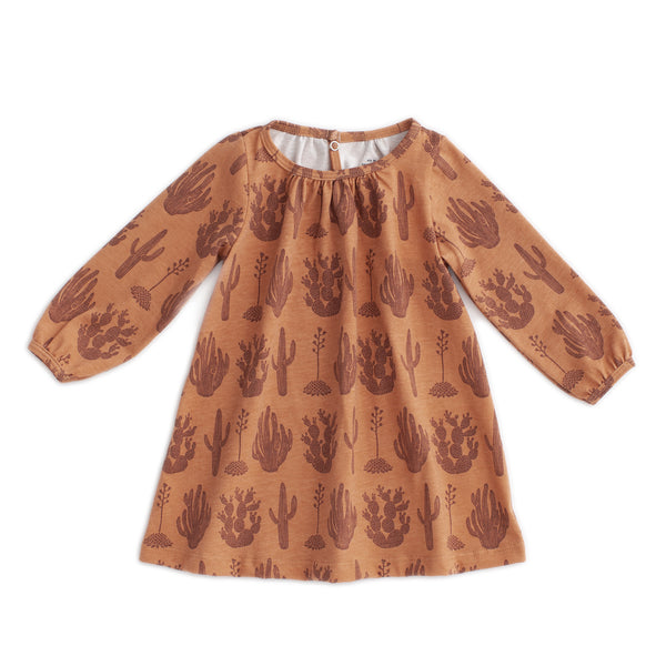 Juniper Baby Dress - Cactus Caramel
