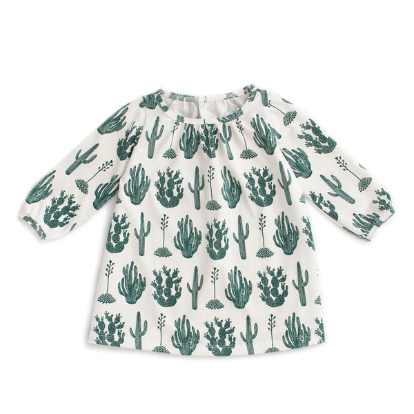 Juniper Baby Dress - Cactus Green