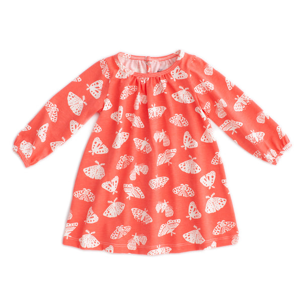 Juniper Baby Dress - Moths Coral