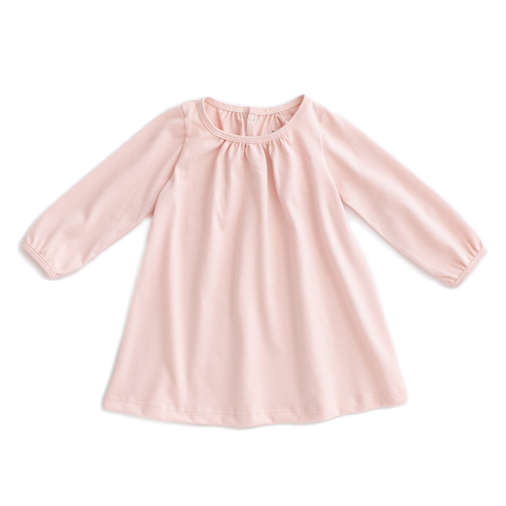 Juniper Baby Dress - Solid Pink
