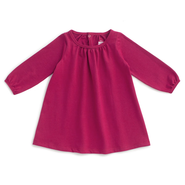 Juniper Baby Dress - Solid Plum